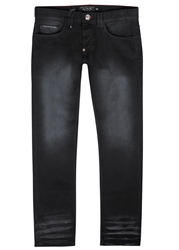 Philipp Plein Black Faded Slim Leg Jeans