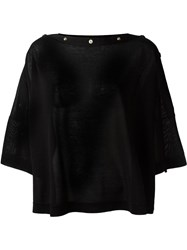 Givenchy Boat Neck Top Black