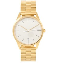 Uniform Wares Satin Gold Link Bracelet C36 Watch