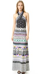 Temperley London Halter Neck Cherise Dress Black Mix