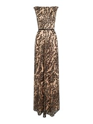 Js Collections Boat Neck Lace Gown With Cap Sleeve Black