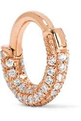 Maria Tash Mini 18 Karat Rose Gold Diamond Earring