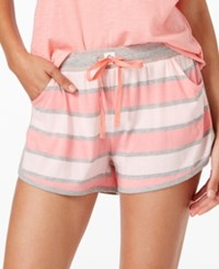 Tommy Hilfiger Rugby Striped Pajama Shorts Summer Rugby Pink