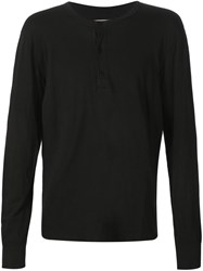 321 Longsleeved Henley T Shirt Black