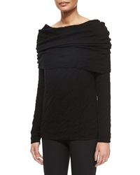 Donna Karan Double Faced Cashmere Silk Pillow Stitched Fold Over Top
