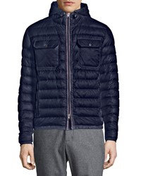 Moncler Douret Quilted Nylon Jacket With Hood Navy Size Xxl 6