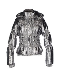 Roccobarocco Coats And Jackets Down Jackets Women Silver