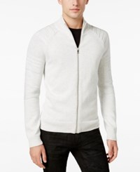 Inc International Concepts Men's In The Dark Full Zip Sweater Only At Macy's Light Grey Heather