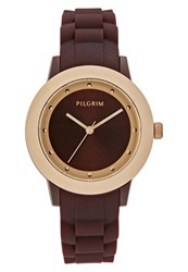 Pilgrim Watch Rose Goldcoloured Brown