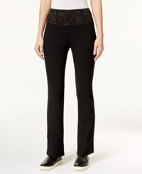 Styleandco. Style Co. Bootcut Yoga Pants Only At Macy's Deep Black