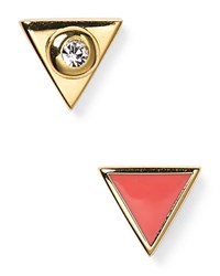Marc By Marc Jacobs Lost And Found Triangle Stud Earrings Coral