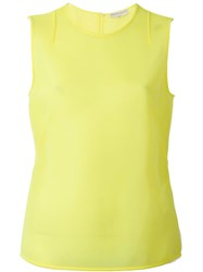 Emilio Pucci Sheer Tank Top Yellow And Orange