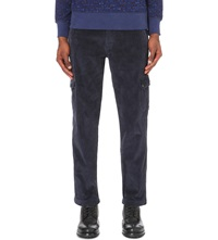 Barbour Regular Fit Corduroy Trousers Navy