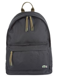 Lacoste Neocroc Backpack In Canvas Black