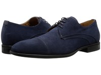 Aquatalia By Marvin K Abe Navy Dress Suede Men's Lace Up Casual Shoes Blue
