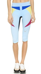 Lucas Hugh Paragon Capri Leggings Sky Blue