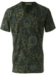 Etro Floral Print T Shirt Grey