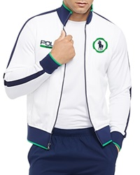Ralph Lauren Polo Sport Cotton Blend Pique Track Jacket Pure White