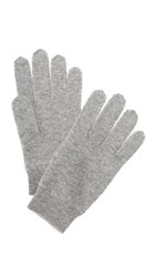 White Warren Cashmere Gloves Grey Grey