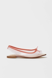 Repetto Vog Sling Back Transparent Sandals Lychee