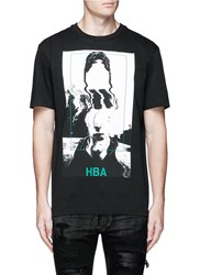 Hood By Air 'Montgomery' Face Print Cotton T Shirt Black