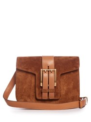 Saint Laurent High School Small Suede Cross Body Bag Tan