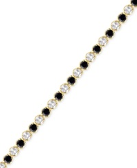 Victoria Townsend Sapphire 3 1 6 Ct. T.W. And White Topaz 2 1 5 Ct. T.W. Bracelet In 18K Gold Over Sterling Silver Yellow Gold