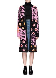 Opening Ceremony X Syd Mead Sequins Leopard Jacquard Coat Multi Colour