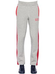 Ea7 Emporio Armani Two Tone Logo Cotton Jogging Pants