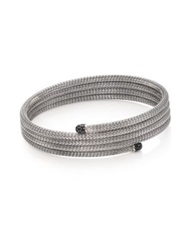 John Hardy Classic Chain Black Sapphire And Sterling Silver Small Multi Row Coil Bracelet