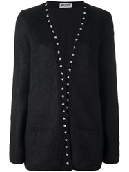 Saint Laurent Studded Long Cardigan Black