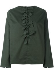 P.A.M. Perks And Mini Pam 'Contacts Tie Up' Blouse Green