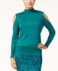 Thalia Sodi Cold Shoulder Sweater Only At Macy's Dark Forest