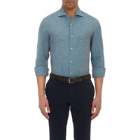 Luciano Barbera Shirt Turquoise