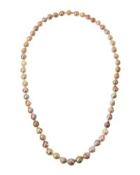 Belpearl 14K Graduated Multicolor Baroque Freshwater Pearl Necklace Women's