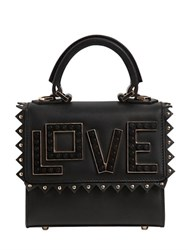Les Petits Joueurs Micro Alex Love Leather Top Handle Bag