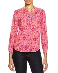 Scotch And Soda Paisley Print Shirt Pink Multi