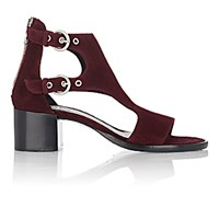 Rag And Bone Women's Matteo Double Buckle Sandals Burgundy