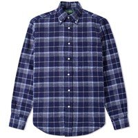 Gitman Brothers Vintage Japanese Flannel Check Shirt Blue