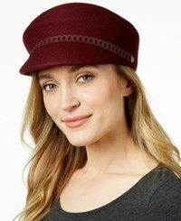 Nine West Felt Newsboy Hat Burgundy