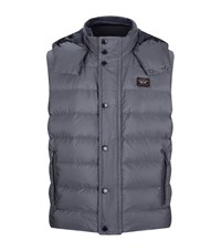 Paul And Shark Hooded Gilet Male Grey