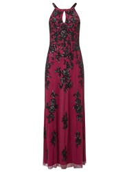 Phase Eight Collection 8 Rochelle Embellished Dress Raspberry