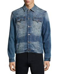 True Religion Terry Lined Denim Coat Clear Waters