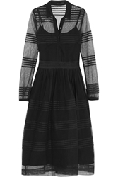 Burberry Pintucked Cotton Tulle Dress