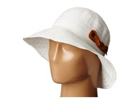San Diego Hat Company Rbm5557 Ribbon Sun Hat With Braided Fauxe Suede Snap Closure White Caps