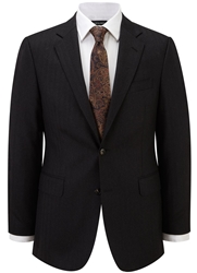 Austin Reed Herringbone Classic Fit Suit Jacket Charcoal