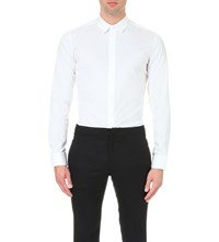 Wooyoungmi Regular Fit Stretch Cotton Shirt White