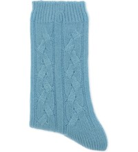 Johnstons Cable Knit Cashmere Socks Bellevue