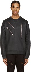 Dsquared Black Coated Zips Dean Fit Pullover