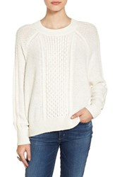 Women's Bp. Cable Knit Dolman Sweater Ivory